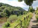 The river side walk to the Ironbridge.