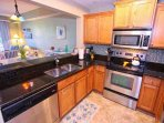 Modern Kitchen w/Stainless Steel Appliances & Granite Counter Tops