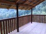 Pogled sa glavne terase. Terrace view