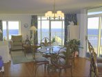 Beautiful Views, ocean views everywhere! The beach and pools directly below. 55 Inch Wall Mounted TV