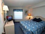 Bedroom #2. Queen, flat screen TV.