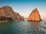 At the tip of the Baja Peninsula you'll find scenic views and beautiful open waters to swim and surf