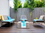 Fabulous outdoor bamboo decked area