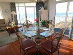 Dining room with gorgeous ocean front views