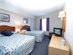 Bedoom #3. 2 full size beds, large flat screen TV.