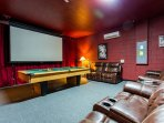 Theater and Game Room