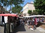 Market in Argeles village