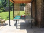 Why not play some table tennis or badminton in the walled garden?