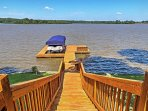 Enjoy ultimate easy access to the lake thanks to this private dock!