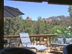 Deck with red rock views