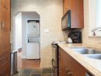 Renovated kitchen with granite counter top