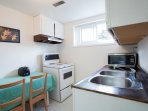 Lower unit kitchen with sitting area