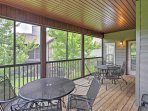 Enjoy spending downtime on the spacious screened porch.