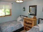 Bedroom 1- Posturepedic matts., full sized closet