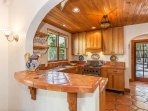 Completely stocked high-end kitchen with everything you need including spices.