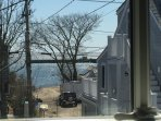 A view of the water is just steps away at this Provincetown vacation rental studio!