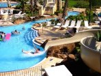 Awesome Water Park with heated Pools,