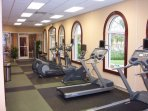Workout area with sauna, steam room and