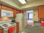 Make a mouthwatering meal in the fully-equipped kitchen.