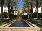 Common area. Well manicured landscaped walkways with fountains, outdoor fireplaces, and hammocks.