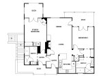 Floor plan of Villa.  Each suite can be rented separately or together as a single unit.