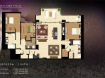 Floor plan of our specious vacation rental by owner