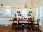 Large dining table seats 10