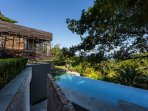 The Sala Thmei  with the  infinity-edge pool (22mx6m)  done in smooth green slates