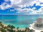 Beautiful ocean views from balcony (lanai)