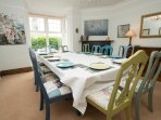 Enjoy a leisurely dinner with your friends and family
