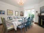 Elegant B&B - with lovely dining room, lounge with an open fire, and views from all the rooms.
