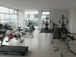 Fully equipped gym in the building if you want to use it.