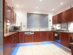 Modern luxury kitchen with feature lighting