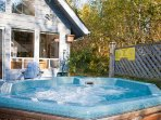 Enjoy the hot tub after a long day