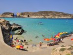 Comino by ferry, leaflets available on property