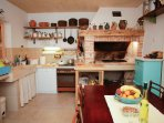 summer kitchen - available to guests for a barbecue