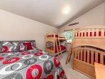 Two Bunk Beds & Queen Bed (Slps 6)
