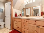 Full Bathroom located on the second floor with double sinks!
