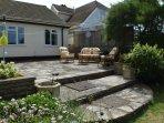 Rear garden and patio
