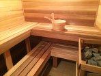 Cedar wood Finnish dry sauna, seat 6, sweat away your worries, enjoy dry heat