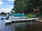 Private dock & boat lift (boat not included)