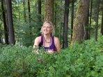 aux myrtilles...la forêt regorge de fruits en toutes saisons...un régal