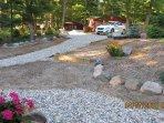 Road side 2016 top parking area to walkway to home