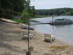 Older pontoon in this photo has been replace. Only part of beach shown here