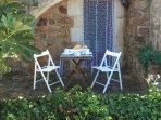 Coqueta terraza en un lugar privilegiado