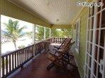 Private back porch facing the Caribbean Sea
