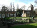 Holland Park Orangerie with the Belvedere restaurant.