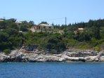 Villa Galatea from the sea
