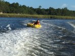 Tubing on the Fowl River . So much fun!!