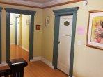 Second floor hallway on the way to Women's Dorm.